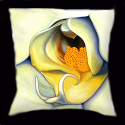 Orchid Mouth by Anni Adkins Pillow