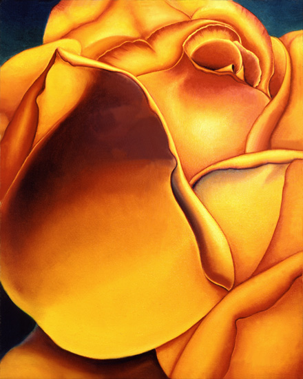 Yellow Rose Original Oil Painting by Anni Adkins